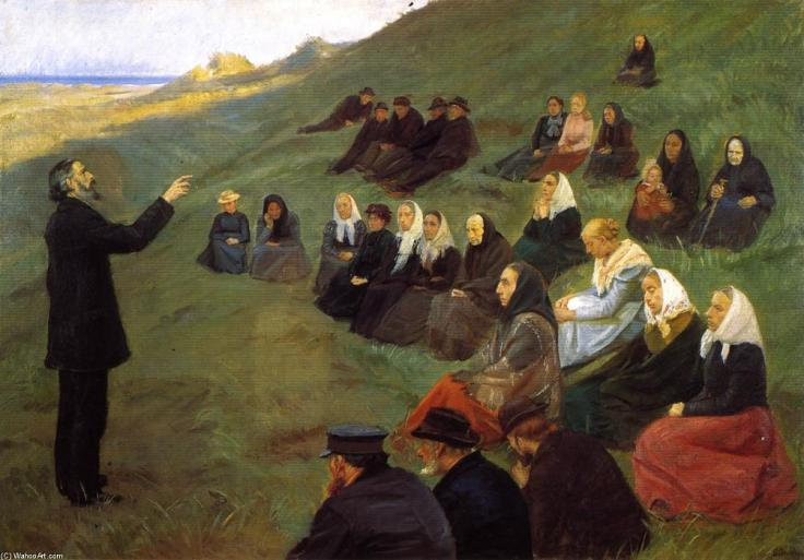 Anna-Ancher-A-Mission-Meeting-by-Frybakken-at-Skagen-