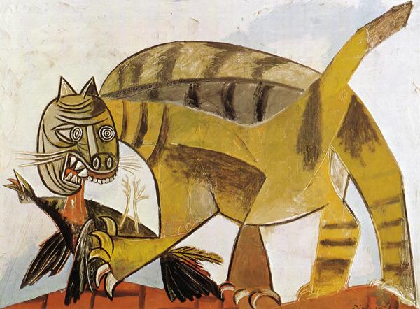 cat-devouring-a-bird-1939