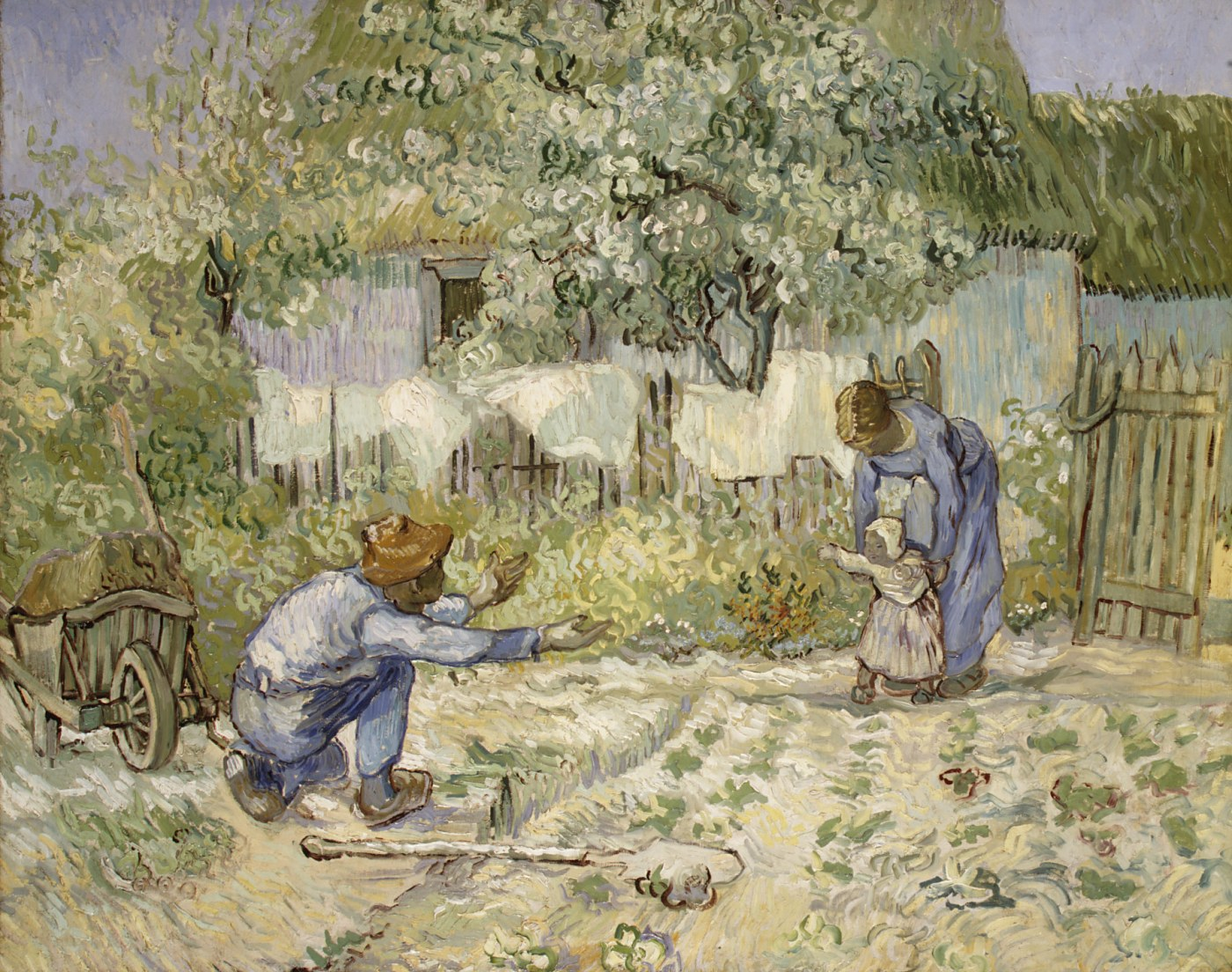Working Title/Artist: First Steps, after Millet Department: European Paintings Culture/Period/Location:  HB/TOA Date Code:  Working Date: 1890 scanned for collections